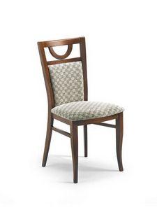Glory I, Chaise rembourrée avec base en bois, avec divers revêtements