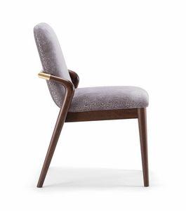 GRACE SIDE CHAIR 074 S, Chaise avec dossier harmonieusement incurvé