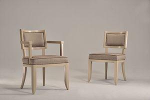HOLLY fauteuil 8381S, Chaise rembourrée en bois de hêtre, pour une utilisation du contrat et l'hôtel