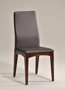 KARINA 2 chaise 8478S, Salle à manger chaise en bois naturel, design simple