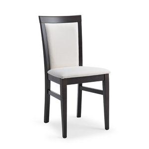 Kim rembourré, Chaise en bois rembourré, pour les restaurants et trattorias