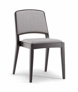 KYOTO SIDE CHAIR 046 S, Chaise en bois rembourrée