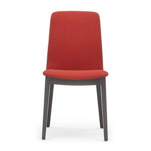 Light 03211, Chaise rembourrée en bois avec poignée, pour restaurants