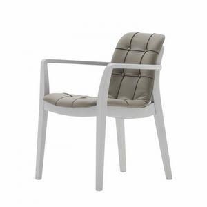 Light 03221K, Chaise avec accoudoirs avec poignée, rembourrée, matelassée
