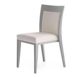 Logica 00912, Chaise empilable, rembourré et avec structure en bois
