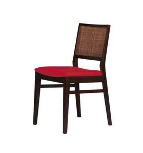 M03, Chaise moderne avec base de hêtre, de la canne de retour
