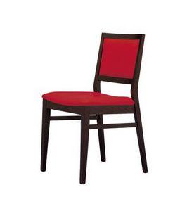 M05, Chaise avec assise et dossier rembourrés, recouverte de tissu