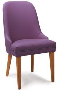 Malaga, Chaise en bois recouvert de faux cuir, pour les restaurants