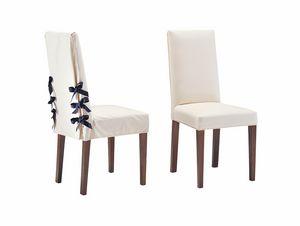 Marina, Chaise pour une salle à manger élégante, avec des lacets