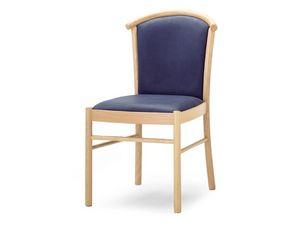 MD/4, Chaise en bois rembourrée, pour les salles à manger