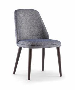 MEG SIDE CHAIR 071 S, Chaise de restaurant confortable et raffinée