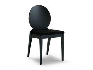 MONIA OVALE, Chaise en bois de hêtre avec dossier ovale