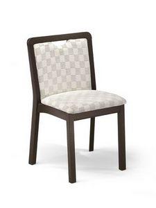 Morena I, Chaise rembourrée avec poignée confortable, pour le salon