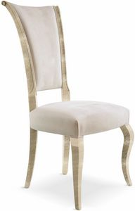 Raffaello Chaise, Chaise en bois massif rembourrée