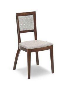 Ramona I2, Chaise rembourrée avec structure en bois, à la mode
