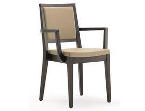 Saba-PI, Chaise empilable avec accoudoirs