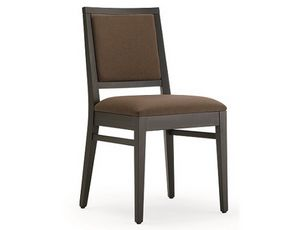 Saba-S1, Chaise rembourrée en bois, pour restaurants et hôtels