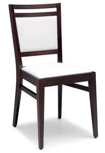 SE 4472 / C, Chaise en hêtre, couvert de faux cuir, pour le contrat et domestique