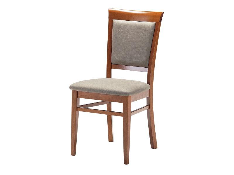 Sirai, Chaise en bois avec assise et dossier rembourrés, pour salles de séjour
