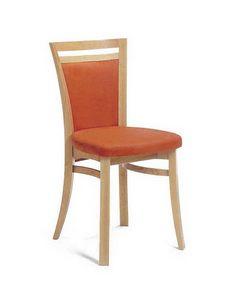 Sofia I, Chaise en hêtre, tapissé, pour les boulangeries et les bars