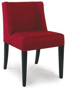 Tampa, Chaise en bois peint, recouvert de tissu
