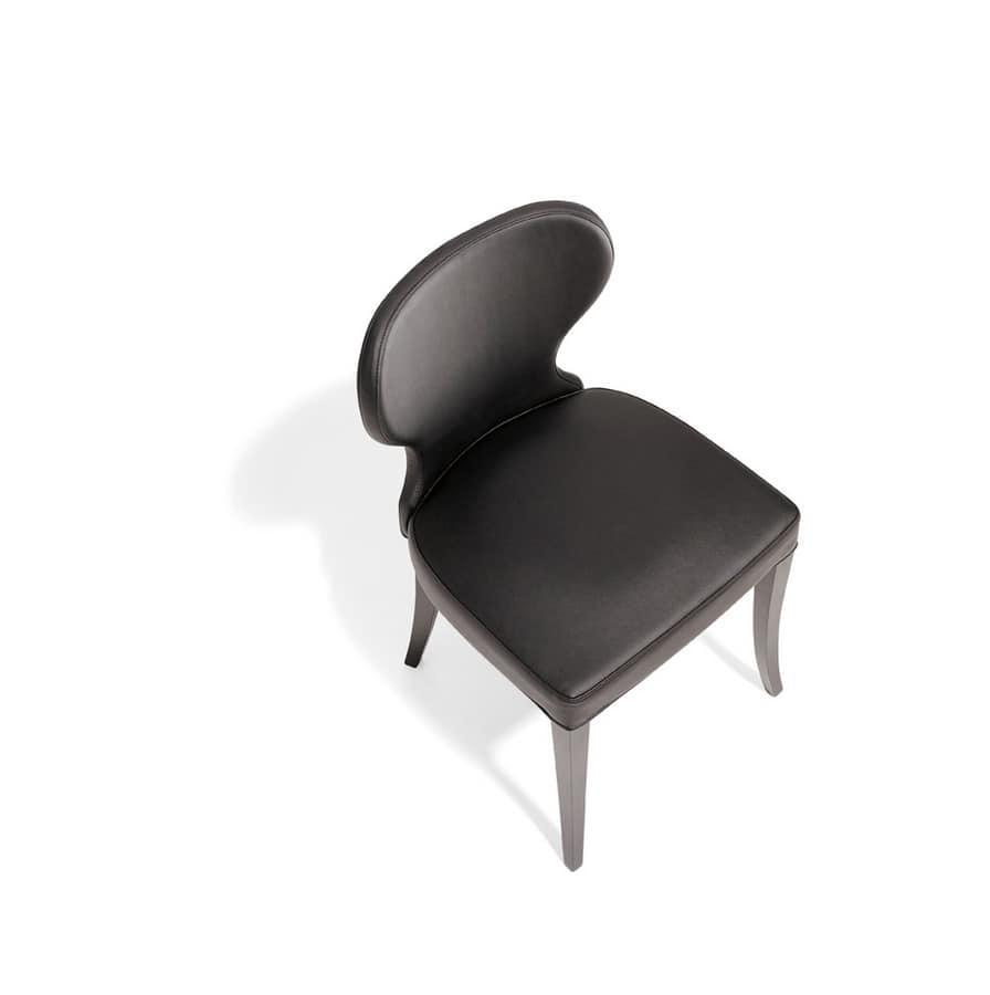 VANITY, Chaise rembourrée en bois, pour la salle à manger