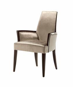 Vendome chaise avec accoudoirs, Chaise avec accoudoirs, rembourré, pour usage contractuel