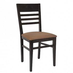 230 B, Chaise avec dossier à lattes horizontales, siège rembourré