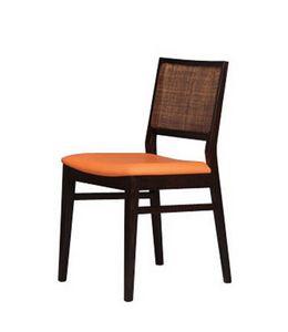 330 C, Chaise en hêtre avec la canne de retour pour la pizzeria
