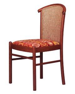 407 C, Chaise avec canne arrière, en hêtre, pour salon de crème glacée