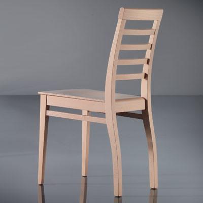 ART. 135 HARMONY, Salle à manger chaise, linéaire, en hêtre, pour une utilisation du contrat