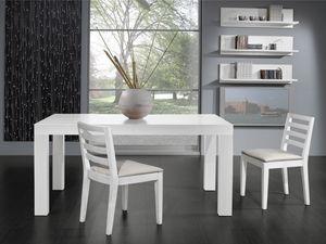 Compléments Chaise 05, Chaise avec assise et dossier rembourrés avec des lattes horizontales