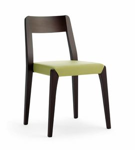 Cotton, Chaise empilable en bois de hêtre pour bar et hôtel