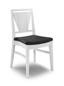 Gaia SC, Chaises modernes avec dossier à lattes horizontales