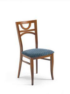Glory ST, Chaise en hêtre avec siège rembourré, avec pieds galbés