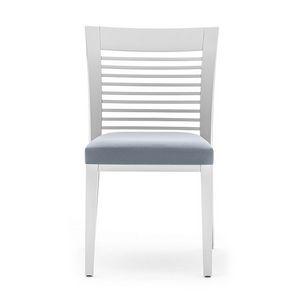 Logica 00915, Salle à manger chaise en bois avec lattes horizontales dossier