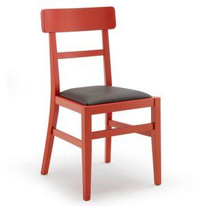 Milù, Simple chaise en bois, pour la cuisine et le bar