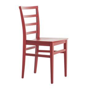 MP47D, Chaise en bois rouge