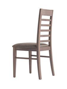 MP490E, Chaise en bois avec assise rembourrée