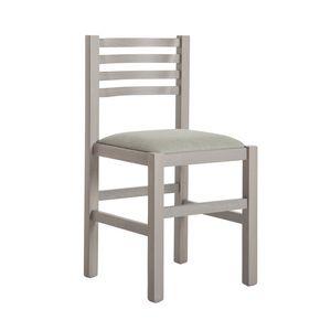 RP404Q, Chaise en bois de hêtre avec assise rembourrée
