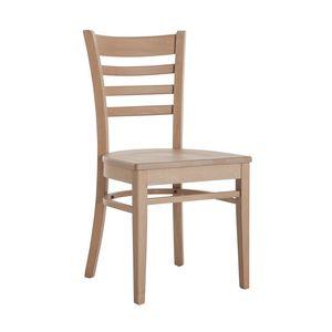 RP491, Chaise en bois avec assise personnalisable