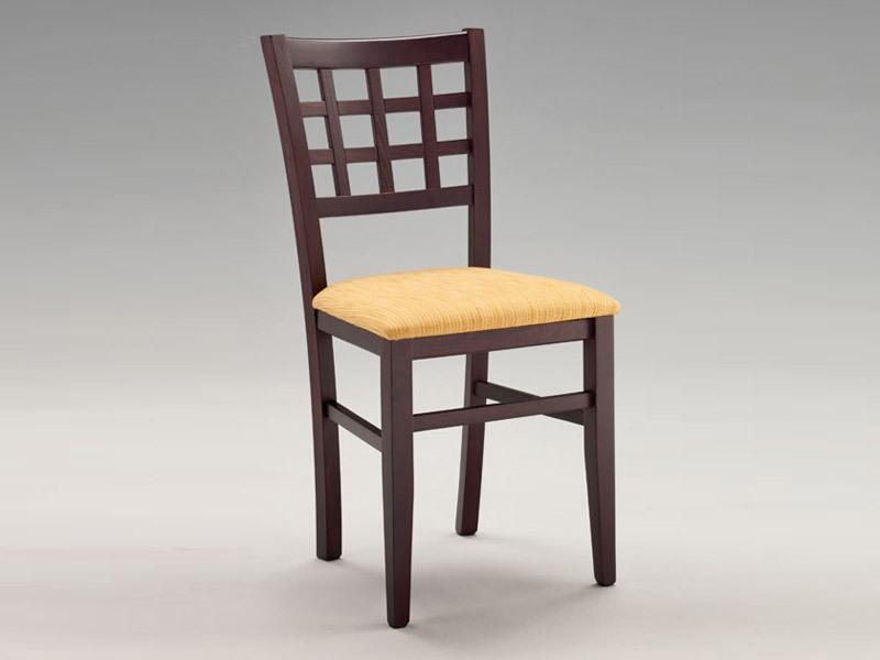 SE 427, Chaise avec assise rembourrée, dos avec des carrés, pour le restaurant