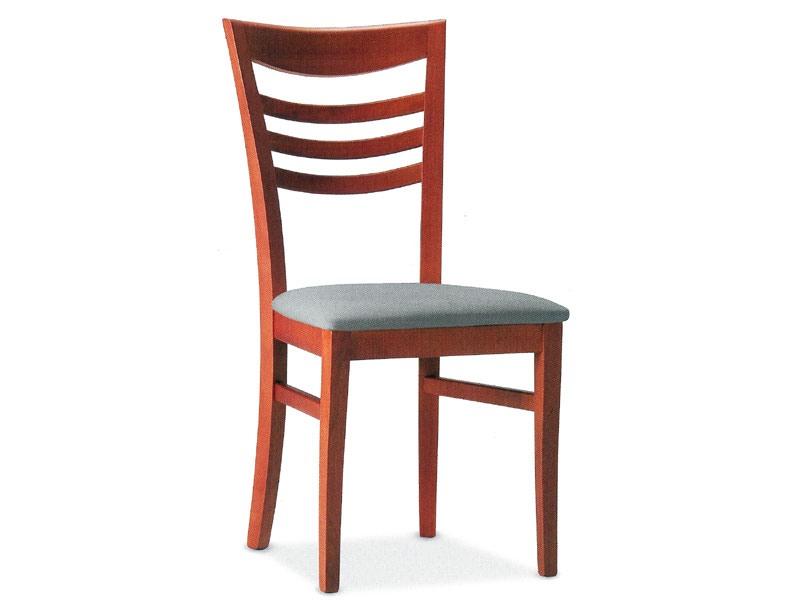 SVEVA, Chaise en bois avec siège rembourré, pour l'usage de contrat
