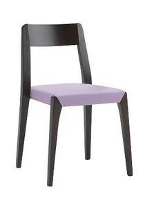 Us Cotton, Chaise en bois pour bar, chaise avec assise rembourrée pour la maison