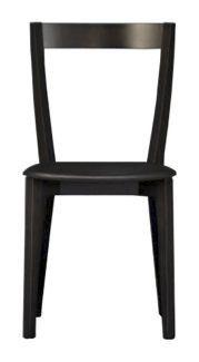 Us Gioy, Chaise moderne noir adapté pour la cuisine, chaise en bois pour bar et restaurant
