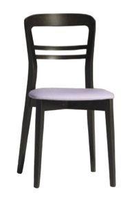 Us Minerva, Chaire en bois de hêtre pour bar, chaise avec assise rembourrée pour la cuisine