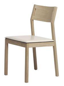Us Mojito, Simple chaise en bois pour la cuisine, chaise en bois de hêtre adapté pour les restaurants