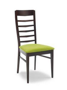 Vanessa O, Chaise moderne avec dossier à lattes horizontales minces