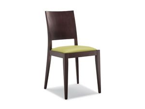 160, Chaise en bois, assise rembourrée, pour les restaurants