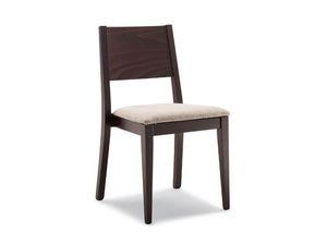 162, Chaise avec bois dos lisse, pour le petit déjeuner chambre
